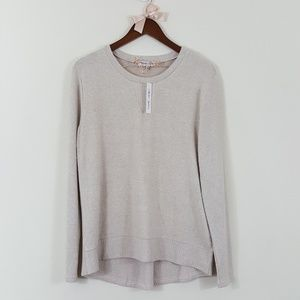 Thyme + Honey NWT Oatmeal Cream Crew Neck Sweater